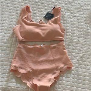 Light pink high wasted bikini